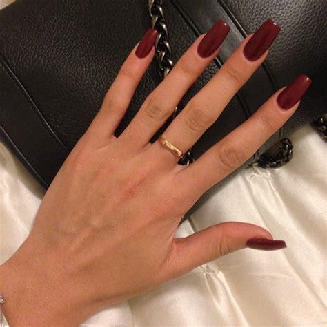 short red coffin nails prettyprettyfingers pinterest nail polish tumblr image 2457938 by marky on favim com