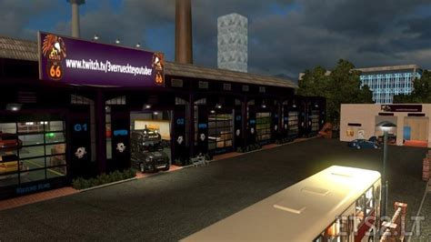 large garage large garage spt service ets2 version 1 22 xx garages mod black dark purple v 1 23 ets 2 mods