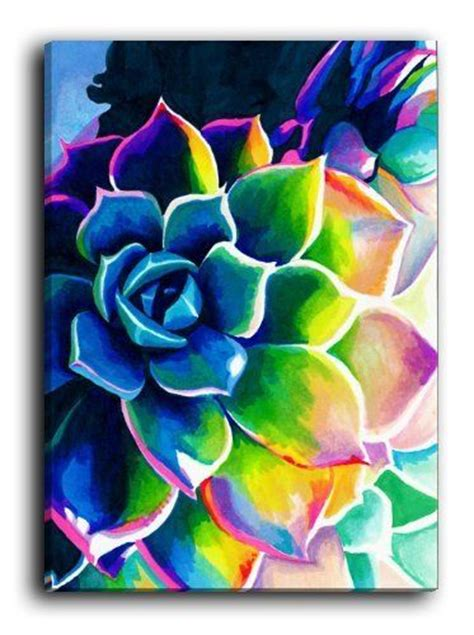 colorful canvas supplication succulent colorful rainbow spiritual