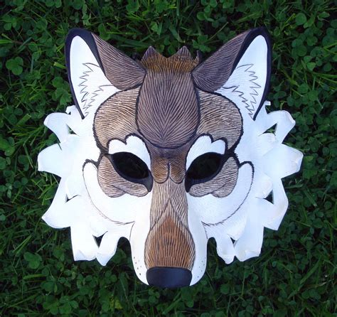 How To Make A Wolf Mask Out Of Paper - dire wolf leather mask limited edition handmade leather