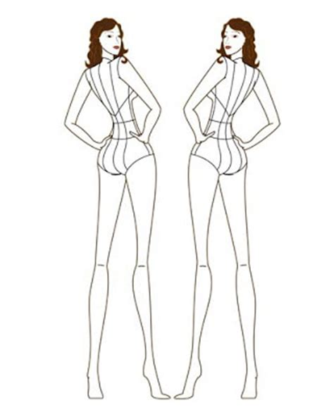 fashion templates front and back fashion illustration templates back