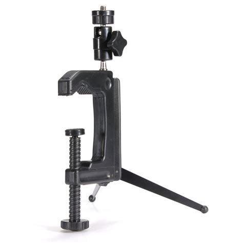Mini Portable Swiveling C Cl Tripod Stand For Flash 1 brand new mini portable swiveling c cl cl tripod stand desktop for camcorder dslr