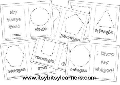 printable shape book templates learning my shapes my shape book shapes preschool stuff