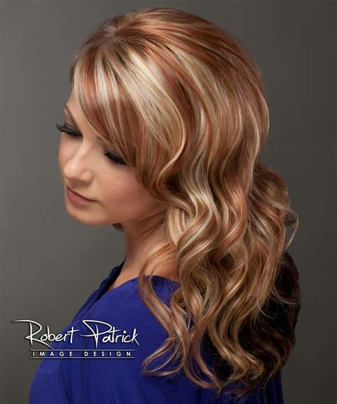 hairstyles blonde and red highlights blonde and red highlights on long layered hair blair