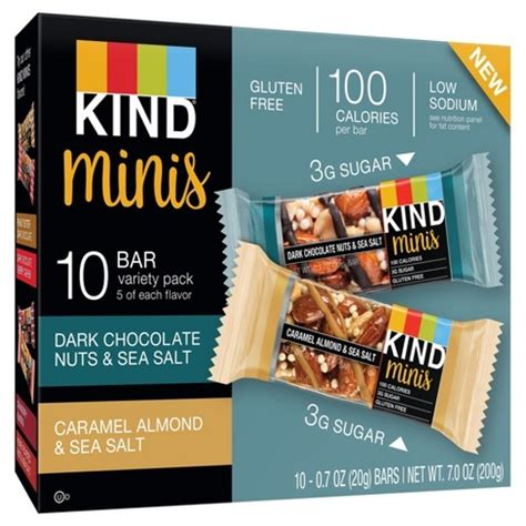 Murah Granobar Chocolate Almonds Cashews 29 Gram 174 minis chocolate nuts sea salt and caramel almond sea salt 10ct target