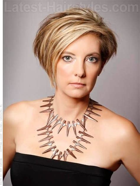 asymmetrical hairstyles for 50 feathered short haircuts for older women