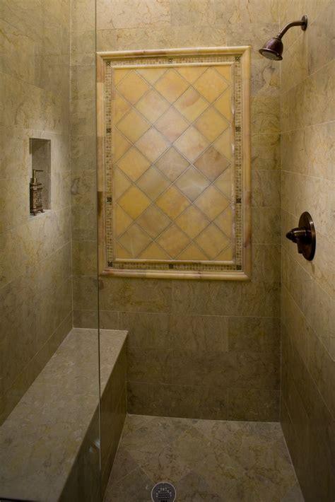 sahara gold honed marble shower surround  floor
