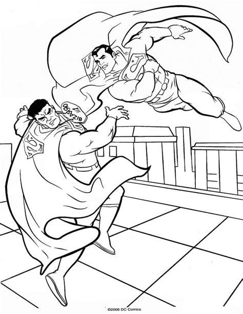 imagenes de justicia para niños para colorear coloriage superman contre un m 233 chant 224 imprimer