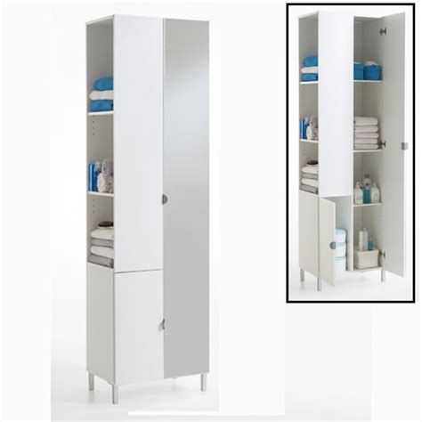 floor standing mirrored bathroom cabinet tarragona bathroom cabinet floor standing in white 10138 fu