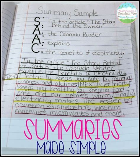 1000 ideas about summary on summarizing