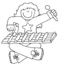 dibujos para colorear xilofono xilofono