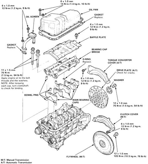 1993 honda accord parts diagram automotive parts diagram