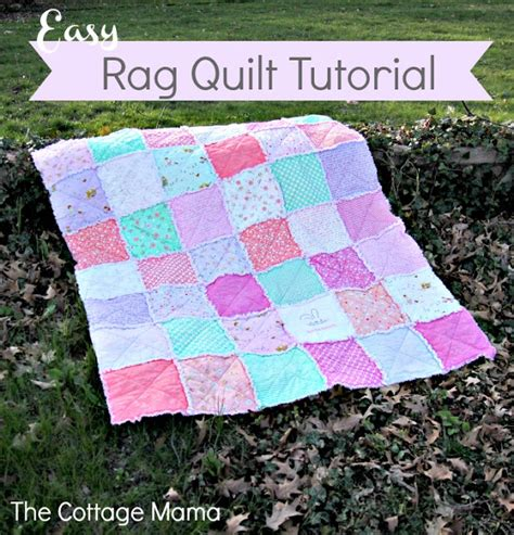 Baby Rag Quilts For Beginners by Some Bunny You Easy Rag Quilt Tutorial The