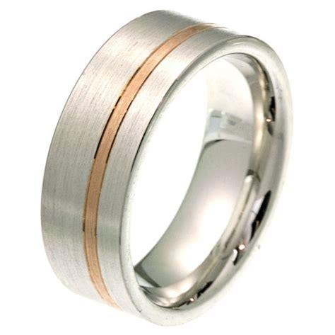 2100571pe platinum gold comfort fit wedding band