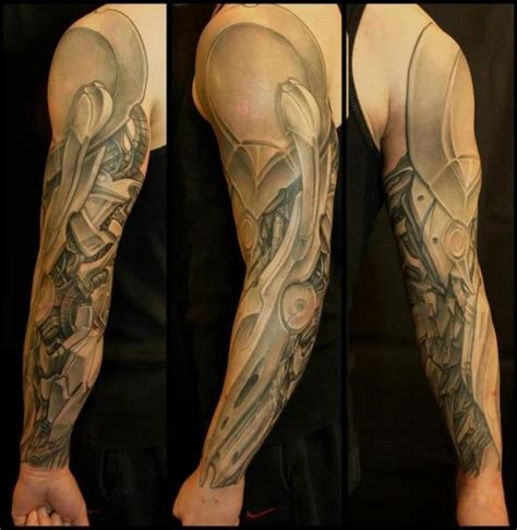 small biomechanical tattoos robotic armor by biomechanical sleeve white rabbit