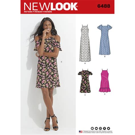 pattern review new look 6301 new look 6488 misses dress with length and sleeve variations