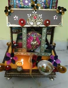 home decoration for janmashtami decorate the pooja ghar with kundan stones and paper