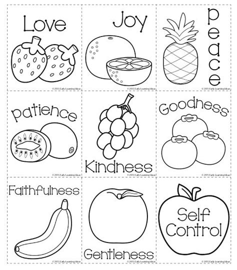 printable toddler sunday school lessons here is a sweet set of printable fruit of the spirit