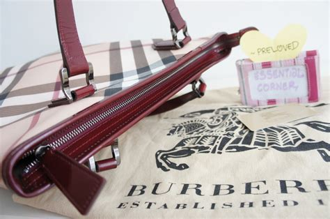 Ready Preloved Longch Leather Tote essential corner burberry preloved