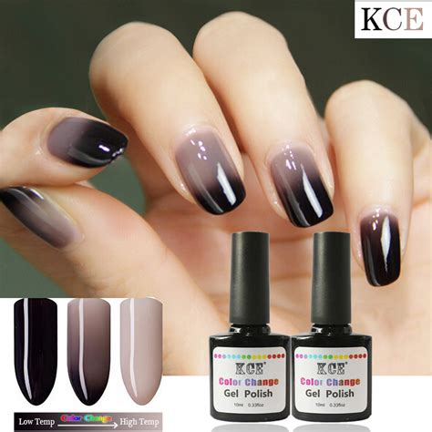 Nail Change by New Product Gel Nail Temperature Change Nail Color