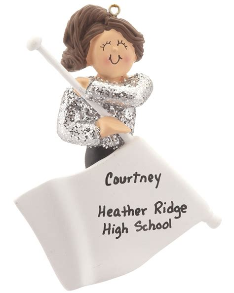 color guard personalized ornament