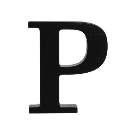 Wooden letter P, black P
