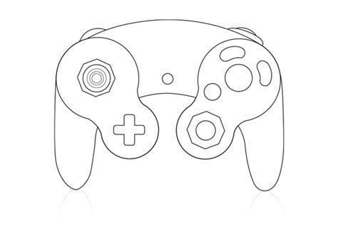 Coloring Page Xbox Controller by The Gallery For Gt Xbox Controller Outline