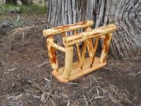 rustic cedar magazine rack