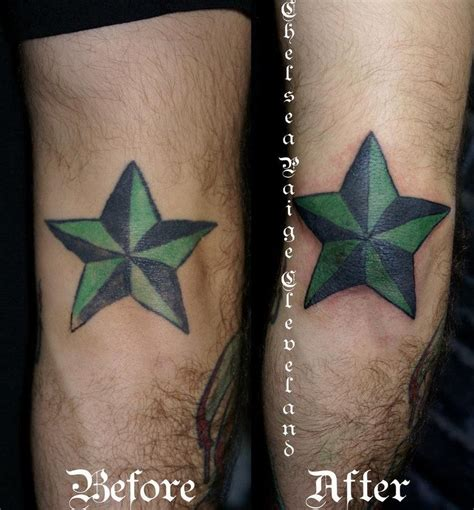 elbow star tattoo starfish on