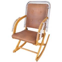 canadian mid century modern folding rocking chair in