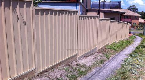 colorbond fences sfg sydney fences  gates