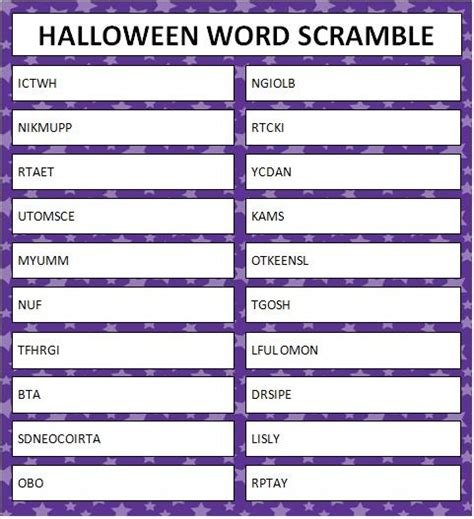 printable halloween word games 135 best images about senior group on pinterest