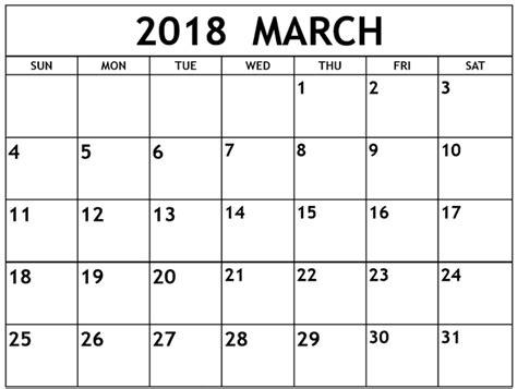march 2018 calendar fillable calendar template letter march 2018 calendar printable template pdf uk usa canada