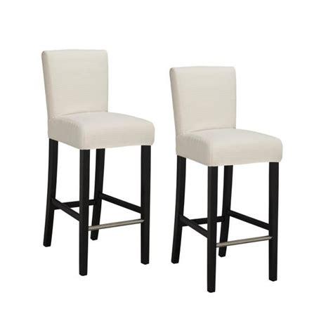 tabouret chaise de bar elvis lot de 2 tabourets de bar en tissu ivoire achat