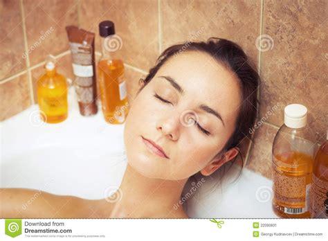 woman bathtub woman in bathtub full of foam stock image image 22090831