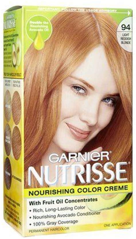 strawberry blonde box color amazon com garnier nutrisse hair coloring 94 light
