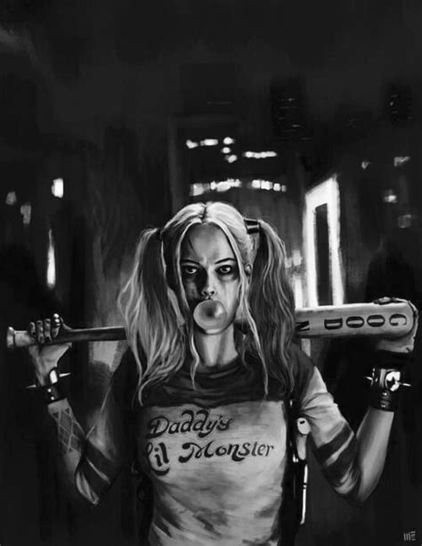 harley quinn black and white wallpaper dc harley quinn suicide squad image 4670548 by olga b