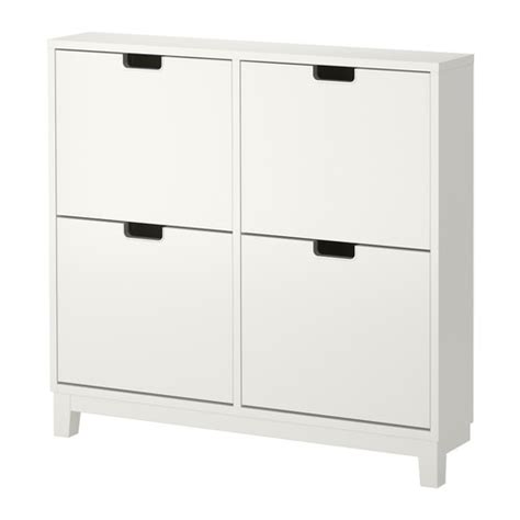 st 196 ll shoe cabinet with 4 compartments white ikea
