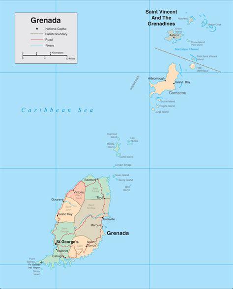 map of grenada island grenada caribbean spice isle tourist destinations