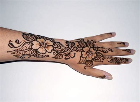 tattoo design flower henna floral hand tattoos pinterest