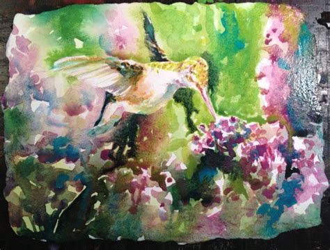 tutorial watercolor hummingbird hummingbird on verbena watercolor painting tutorial