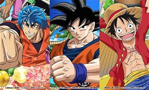 film one piece x toriko x dbz special toriko one piece dragon ball z get crossover anime
