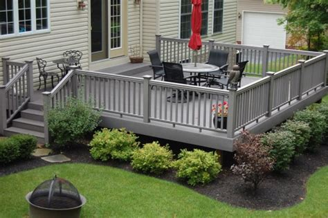 deck landscaping this composite gray deck is landsca