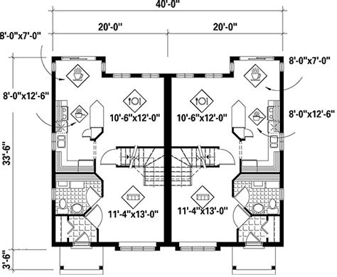 duplex layout duplex with two layouts 80573pm architectural designs
