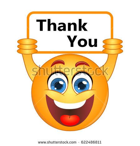 emoji thank you yellow smiley laughing stock vector 477805078 shutterstock