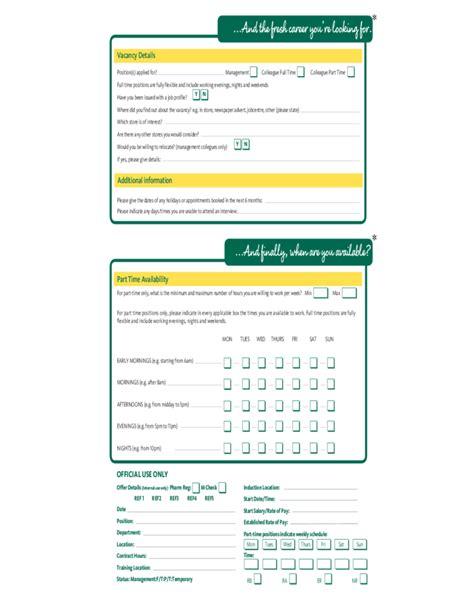 morrisons fresh job application form free download