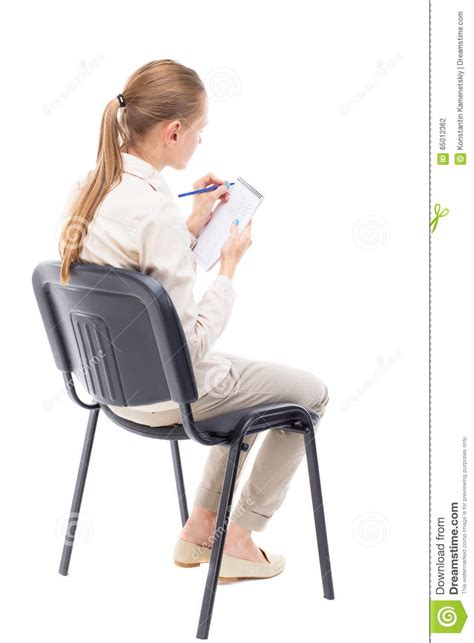 Person Sitting In Chair by Back View Of Beautiful Sitting On Chair And