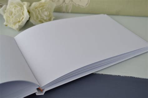 Wedding Guest Book Cover Diy by White Blank Guest Book 23 Page Diy Wedding Guest Book