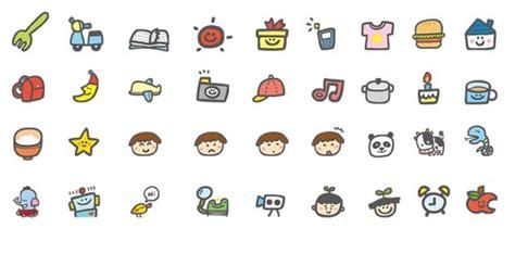 design icon cute hand drawn cartoon cute icons over millions vectors