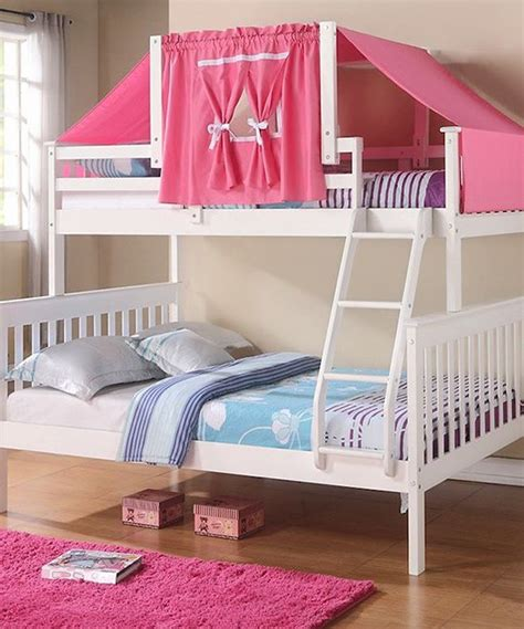 cute twin beds kids white pink mission twin full tent bunk bed mi